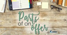 Parts of an offer
