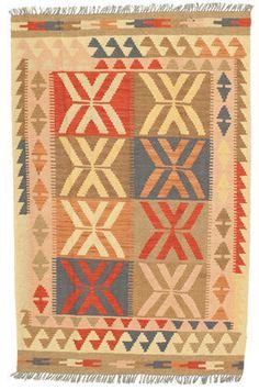 Kilim Afghan Old style carpet NEWP173 #rug