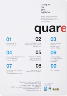 quadradão #graphic design #poster