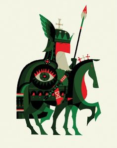 1318791432.jpg (500×636) #illustration #knight #geometric