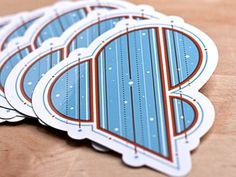 Dribbble - Amperstickers by 55 Hi's #illustration #typography