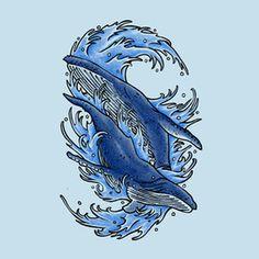 Humpback whales #humpback #design #illustration #art #whales