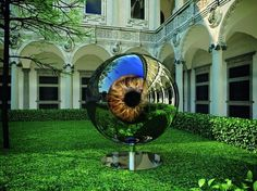 Moving Reflective Eyeball Sculpture - My Modern Metropolis #eye #sculpture #architecture #ball