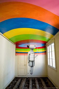 Fifty Street Artists Descend on Condemned Parisian Nightclub Les Bains #abstract #oversized #mural