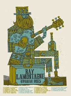 RAY LAMONTAGNE SUITCASE MAN « Limited Edition Gig Posters « Methane Studios #poster