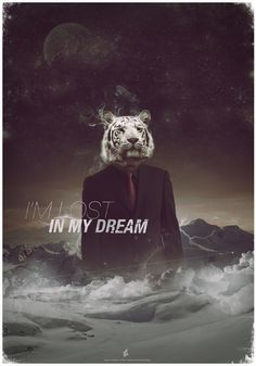 Lost In My Dream by Everlong Design #mountain #snow #space #night #nature #lightning #tiger #suit