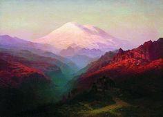 Mountain Painting - Ilya Nikolayevich Zankovsky (1832-1919) #mountain #landscape #colorful #vintage #art #painting