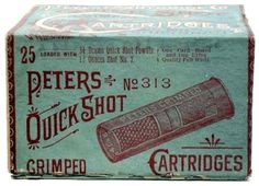 King George #shells #packaging #bullets #vintage #typography