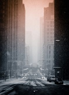 Lake and Stetson | Flickr - Photo Sharing! #winter #snow #street #urban #city #chicago