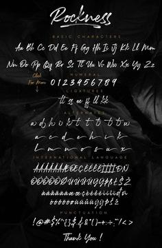 Rockness – Hand brush Typeface