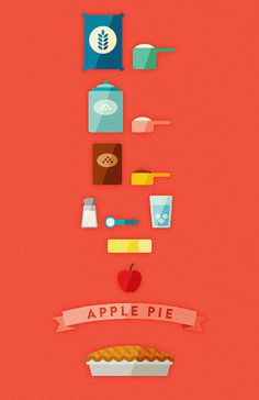 Apple Pie #illustration #icons