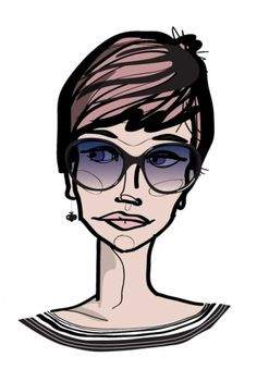 Specialmagazin #illustration #portrait #woman #face #sunglasses #character