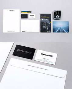 Zipwake #stationary #businesscard #folder