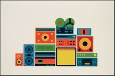 YES - The Hi-Fi #flat #illustration #vibrant #colour