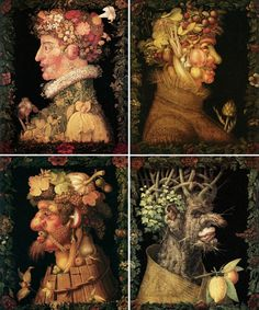 Four Seasons by Giuseppe Arcimboldo, 1573. The... #four #the #arcimboldo #illustration #portrait #seasons #giuseppe