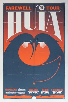 The Huia Show – Walter Hansen #zealand #design #screenprint #bird #poster #new