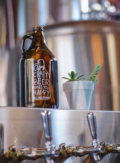 postmark, beer, culture, reflective, bottle, growler