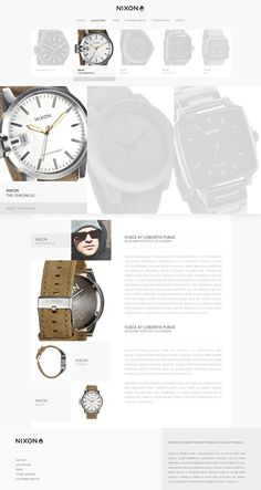 NIXON Inc // Redesign_Web #direction #behance #art #webdesign #lordzlz #web #d