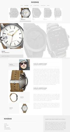 NIXON Inc // Redesign_Web #direction #behance #art #webdesign #lordzlz #web #d