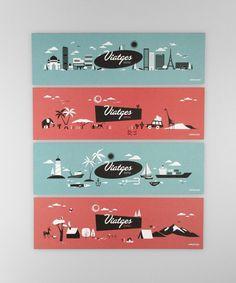 Summer holidays | Atipus #illustration #skyline #landscape