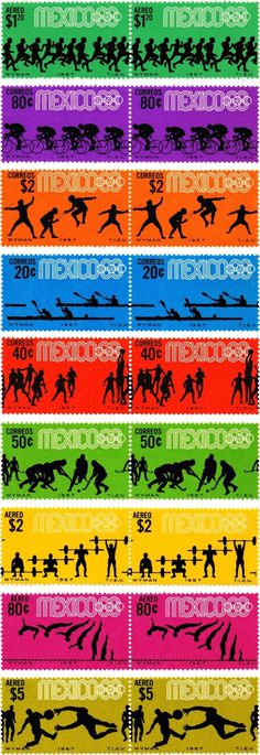 az project | » Lance Wyman #mexico #stamps #olympics #sports