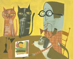 Matte Stephens #illustration #cats #dog