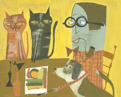 Matte Stephens #illustration #dog #cats