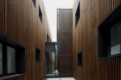 Administration Building of the North Shanghai Gas Company in Jiading / Atelier Deshaus (11) #wood #architecture #facades