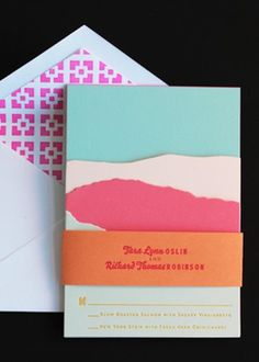 Oh So Beautiful Paper: A Paper Blog – Unique and Custom Wedding Invitation Ideas and Modern Stationery - Part 3 #wedding #print #cards #invites