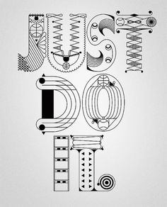 NIKE x Type illustrations 2010 on the Behance Network #lettering