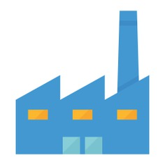 See more icon inspiration related to factory, company, industry, building, manufacturer, powerplant, establishment and buildings on Flaticon.