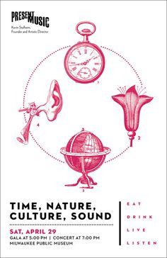 Time, Nature, Culture, Sound postcard for Present Music, Milwaukee, Wisconsin