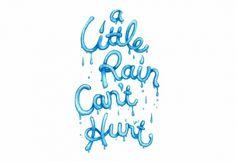 Ayaka Ito #lettering #ito #illustration #rain #ayaka #type