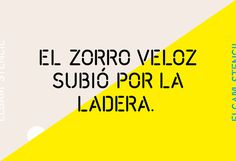 Elgam Stencil by Erre Gálvez #type #typography