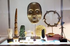George Lois at Home in New York City #sculpture #george #symbols #mask #art #lois
