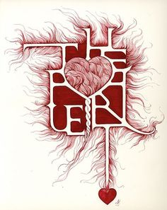 Art of posters: Typography and Illustrations by Marian Bantjes #type #heart #marian bantjes #decorative #true