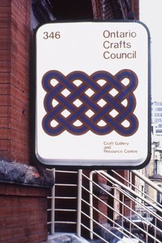 The CANADIAN DESIGN RESOURCE » Burton Kramer / Ontario Crafts Council #design #vintage #identity #canada #signage #burton kramer