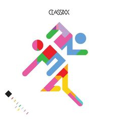 "Classixx ""Holding On"" Single Cover #flat #album #classixx #pictograph #designed #planned #shapes #people #cover #clean #illustration #running #men #minimal #double #smart #music #man #clever"