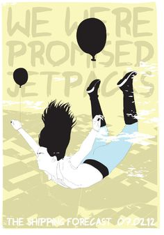 Screen prints 2011 horse #promised #horse #were #jetpacks #design #screenprint #we #poster #music