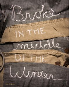 Lyric poster | #sewing #embroider #noah #broke #winter #sewingMachine