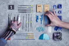 Making of... our Jewellery! on the Behance Network #smithgrey #neatly #order #stools #things #arranged #hand
