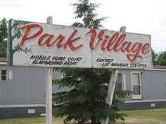 All sizes | Park Village Trailer Park Sign | Flickr - Photo Sharing! #script #sign #painted #signage #type #hand #typography
