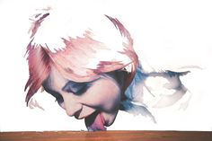 Just Like I Remember by Adam Krüger #tongue #painting #mural #girl