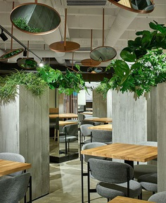 New Interior Concept for the Healthy Food Restaurant by Ponama Architects - InteriorZine