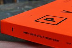 P28 Book,Excellence Award - HKDA Hong Kong Design Award on the Behance Network #detail #orange #book