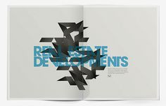 SZ Developments Brochure on the Behance Network #typogrqaphy #layout #minimal