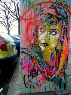 Street Art by Christian Guémy   Cuded #street art #christian gumy