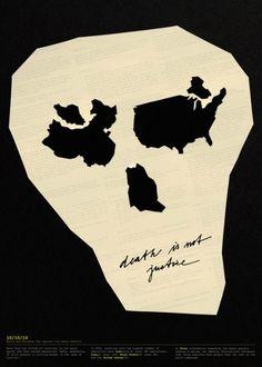 Death Map Poster - Jan Sabach Design