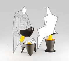 Praktische Sitzmöbel von Andrej Cverha | KlonBlog #scribbles #concept #interieur #art