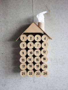9 DIY Advent Calendar Ideas | Oh Happy Day! #toilet #rolls #christmas #paper #decoration
